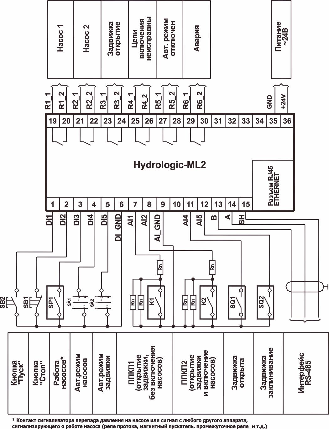схема соединения насосов на чертеже